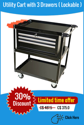 Buy Utility Carts with Drawers Online | Laksi carts Inc